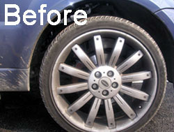 Alloy Wheel Clean - Before